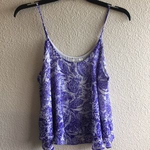 NEW Nordstrom Purple and White Top